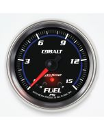 "2-5/8"" FUEL PRESSURE, W/ PEAK & WARN, 0-15 PSI, STEPPER MOTOR, COBALT"