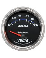 "2-5/8"" VOLTMETER, 8-18V, AIR-CORE, COBALT"