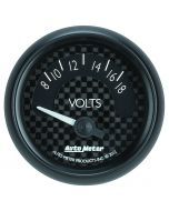 "2-1/16"" VOLTMETER, 8-18V, AIR-CORE, GT"