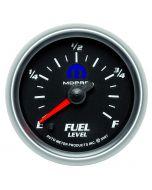 "2-1/16"" FUEL LEVEL, PROGRAMMABLE 0-280 Ω, STEPPER MOTOR, BLACK, MOPAR #77060043"