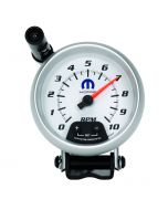 "3-3/4"" PEDESTAL TACHOMETER, 0-10,000 RPM, WHITE, MOPAR"