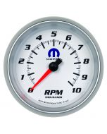 "3-3/8"" IN-DASH TACHOMETER, 0-10,000 RPM, WHITE, MOPAR"