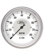 "3-1/8"" IN-DASH TACHOMETER, 0-8,000 RPM, FORD MASTERPIECE"