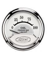"2-1/16"" OIL PRESSURE, 0-100 PSI, AIR-CORE, FORD MASTERPIECE"