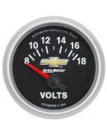 """2-1/16"""" VOLTMETER, 18V, ELECTRIC, CHEVY GOLD BOWTIE"""