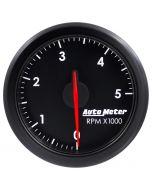 """2-1/16"""" TACH, 0-5,000 RPM, AIR-CORE, AIRDRIVE, BLACK"""