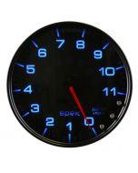 "5"" IN-DASH TACHOMETER, 0-11,000 RPM, SPEK-PRO, BLACK DIAL, BLACK BEZEL, SMOKED LENS"