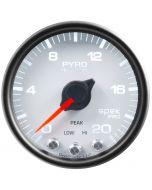 """2-1/16"""" PYROMETER, 0-2000 °F, STEPPER MOTOR, SPEK-PRO, WHITE DIAL, BLACK BEZEL, CLEAR LENS"""