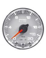 "2-1/16"" PYROMETER, 0-2000 °F, STEPPER MOTOR, SPEK-PRO, SILVER DIAL, CHROME BEZEL, CLEAR LENS"