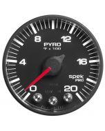 "2-1/16"" PYROMETER, 0-2000 °F, STEPPER MOTOR, SPEK-PRO, BLACK DIAL, BLACK BEZEL, FLAT ANTIGLARE LENS"