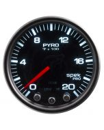 "2-1/16"" PYROMETER, 0-2000 °F, STEPPER MOTOR, SPEK-PRO, BLACK DIAL, BLACK BEZEL, SMOKED LENS"