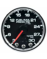 "2-1/16"" FUEL RAIL PRESSURE, 3-30K PSI, STEPPER MOTOR, SPEK-PRO, BLACK DIAL, CHROME BEZEL, CLEAR LENS"