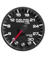"2-1/16"" FUEL RAIL PRESSURE, 3-30K PSI, STEPPER MOTOR, SPEK-PRO, BLACK DIAL, BLACK BEZEL, FLAT ANTIGLARE LENS"