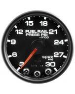 "2-1/16"" FUEL RAIL PRESSURE, 3-30K PSI, STEPPER MOTOR, SPEK-PRO, BLACK DIAL, BLACK BEZEL, CLEAR LENS"
