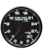 "2-1/16"" FUEL RAIL PRESSURE, 3-30K PSI, STEPPER MOTOR, SPEK-PRO, BLACK DIAL, BLACK BEZEL, SMOKED LENS"