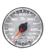 "2-1/16"" OIL TEMPERATURE, 100-300 °F, STEPPER MOTOR, SPEK-PRO, SILVER DIAL, CHROME BEZEL, CLEAR LENS"
