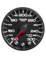 "2-1/16"" TRANSMISSION TEMPERATURE, 100-300 °F, STEPPER MOTOR, SPEK-PRO, BLACK DIAL, BLACK BEZEL, FLAT ANTIGLARE LENS"
