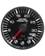 "2-1/16"" WATER PRESSURE, 0-35 PSI, STEPPER MOTOR, SPEK-PRO, BLACK DIAL, BLACK BEZEL, FLAT ANTIGLARE LENS"
