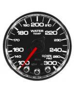 "2-1/16"" WATER TEMPERATURE, 100-300 °F, STEPPER MOTOR, SPEK-PRO, BLACK DIAL, CHROME BEZEL, CLEAR LENS"