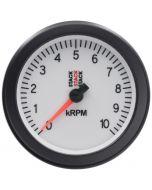 TACHOMETER, SPORT, 88MM, WHITE, 0-10K RPM