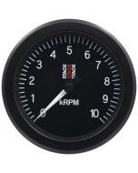 TACHOMETER, SPORT, 88MM, BLACK, 0-10K RPM