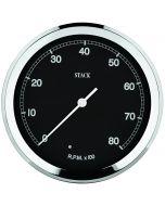 TACHOMETER, CLASSIC, 125MM, BLACK, 0-8K RPM