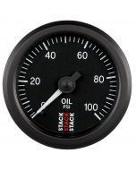 "OIL PRESS, 52MM, BLACK, 0-100 PSI, MECHANICAL, 1/8"" NPTF (M)"
