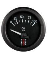 "OIL PRESS, ELECTRIC, 52MM, BLK, 0-100 PSI, AIR-CORE, 1/8"" NPTF"
