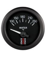 """WATER TEMP, ELECTRIC, 52MM, BLK, 100-250 °F, AIR-CORE, 1/8"""" NPTF"""