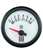 OIL PRESS, ELECTRIC, 52MM, WHT, 0-7 BAR, AIR-CORE, M10 MALE