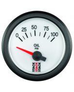 "OIL PRESS, ELECTRIC, 52MM, WHT, 0-100 PSI, AIR-CORE, 1/8"" NPTF"