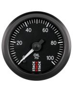 "OIL PRESS, PRO STEPPER MOTOR, 52MM, BLK, 0-100 PSI, STEPPER MOTOR, 1/8"" NPTF MALE"