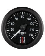 """WATER TEMP, PRO STEPPER MOTOR, 52MM, BLK, 40-120 °C, 1/8"""" NPTF MALE"""