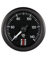 "OIL TEMP, PRO STEPPER MOTOR, 52MM, BLK, 40-140 °C, 1/8"" NPTF MALE"