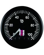 "OIL PRESS, PRO-CONTROL, 52MM, BLK, 0-100 PSI, STEPPER MOTOR, 1/8"" NPTF MALE"