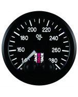 "OIL TEMP, PRO-CONTROL, 52MM, BLK, 140-280 °F, STEPPER MOTOR, 1/8"" NPTF MALE"