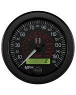 88MM SPEEDOMETER, 0-160 MPH / 260 KM/H, STACK BLK