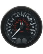 88MM SPEEDOMETER, GPS, 0-180 MPH / 260 KM/H, STACK BLK