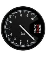 TACHOMETER, PROFESSIONAL, ACTION REPLAY, 125MM, BLK, 0-10K RPM