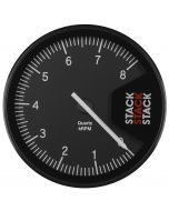 TACHOMETER, PROFESSIONAL, ACTION REPLAY, 125MM, BLK, 0-8K RPM