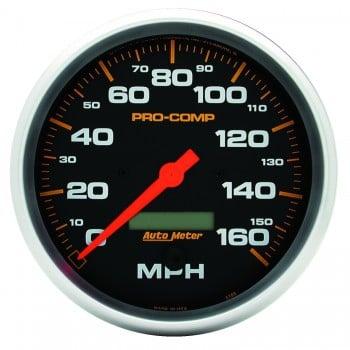 "5"" SPEEDOMETER, 0-160 MPH, ELECTRIC, PRO-COMP"