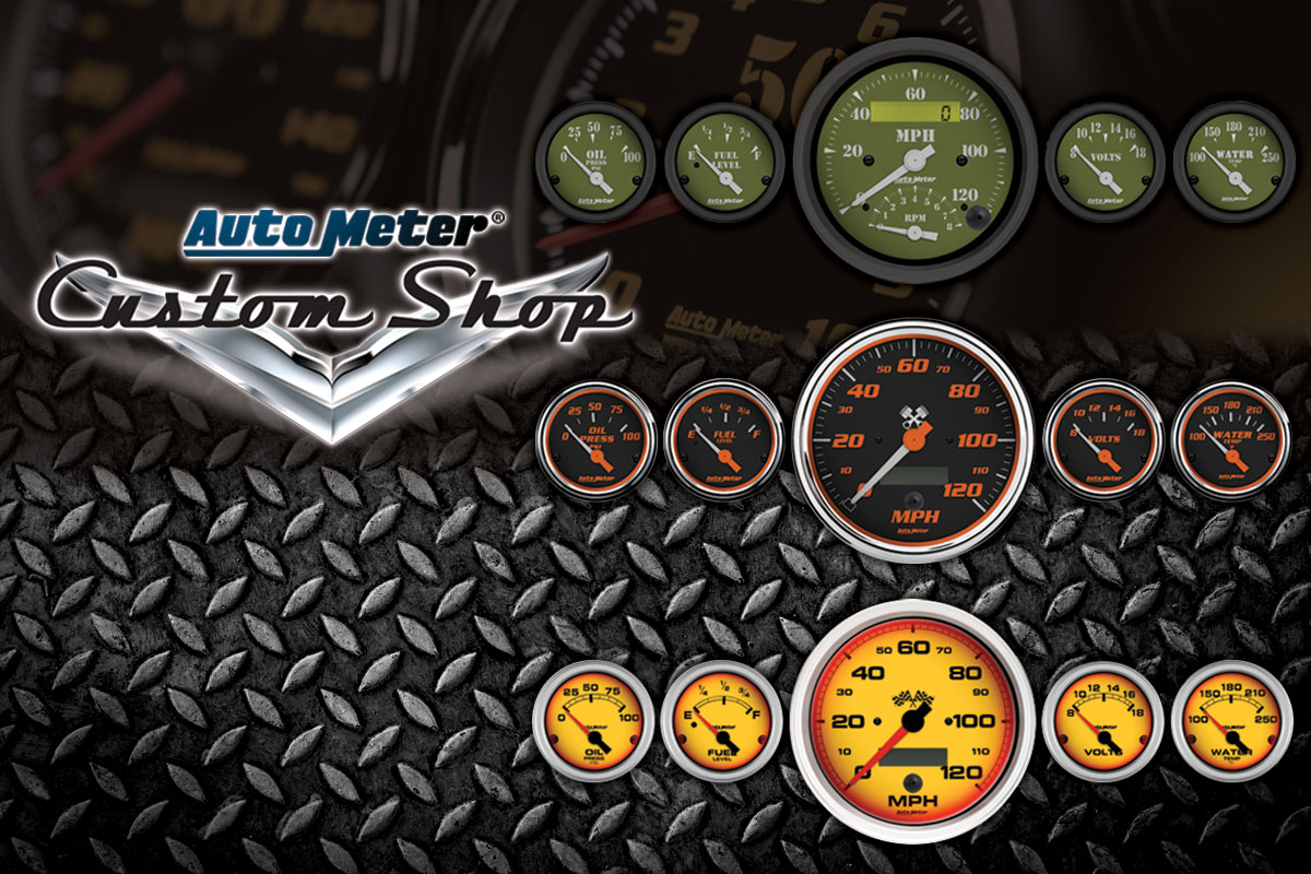 Create Your Own Gauges in the AutoMeter Custom Shop
