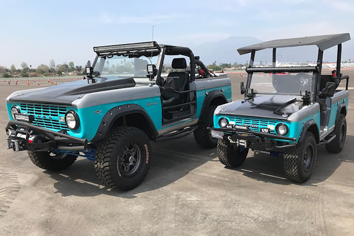 1968 Ford Bronco and its mini-me