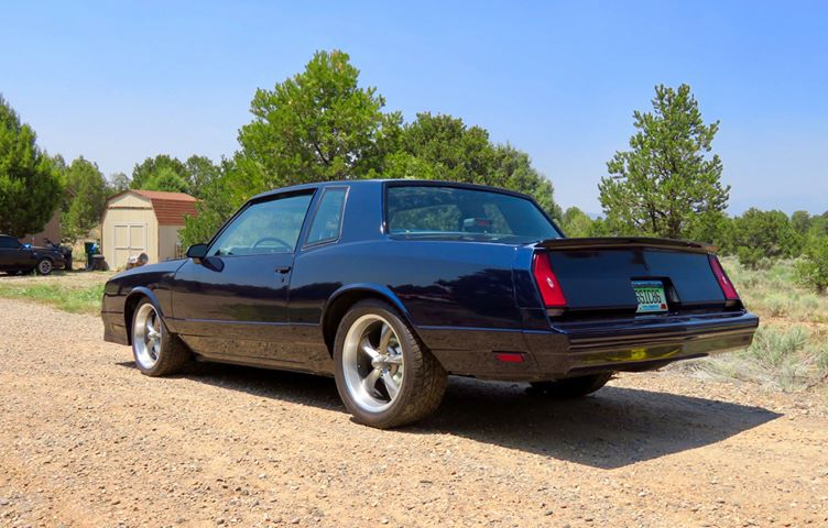 Midnight Blue Monte Carlo, side view