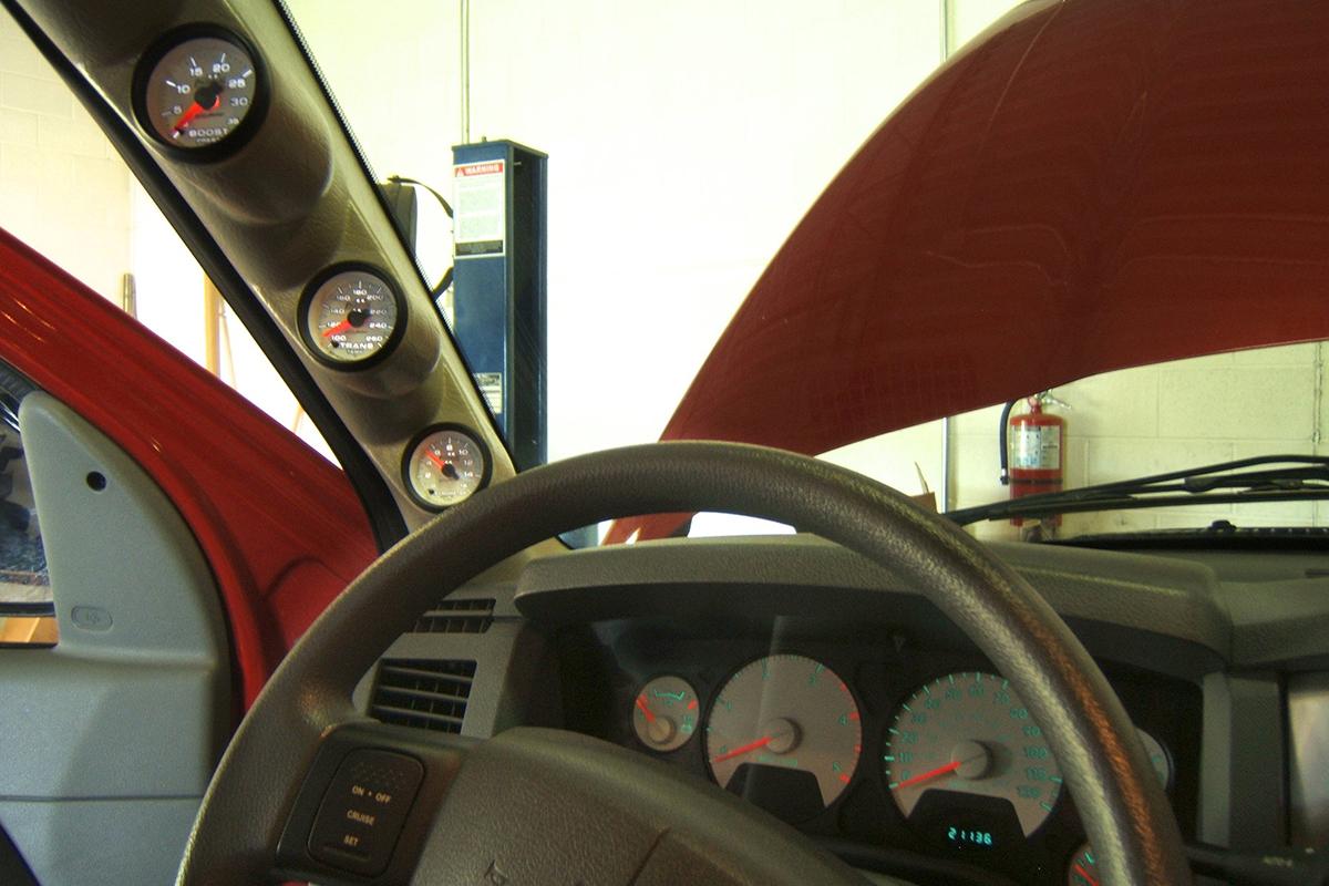 2008 dodge with cummins gauges