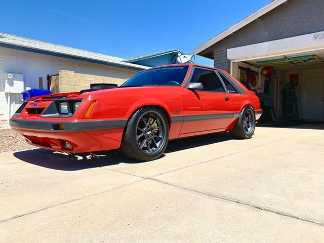1985 Mustang GT, side view