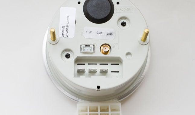 Back of a tachometer