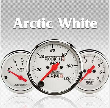 Artic White gauges