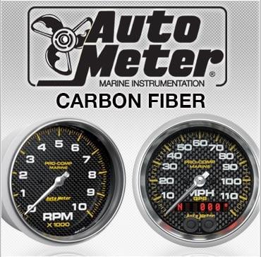 Auto Meter carbon fiber gauges