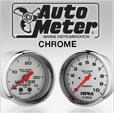 Auto Meter chrome gauges